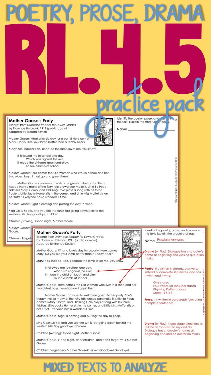 Structural Elements Of Poems Drama And Prose Practice Pack With Worksheets Teaching Literature Prose Teaching Poetry [ 1308 x 736 Pixel ]