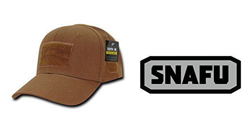 Rapdom Coyote Operator Cap + SNAFU PATCH BLACK GREY http://huntinggearsuperstore.com/product/rapdom-coyote-operator-cap-snafu-patch-black-grey/ Package Includes: Rapdom Coyote Cap + Ultimate Arms Gear Patch Tactical Operator Cap Gives you the style of a Classic Ballcap combined with useful Tactical Features. One Size Fits Most. Hook and Loop Patches in Inches: Front: 3″ x 2″ / Top: 1″ x 1″ / Right: 1.5″ x 1″ / Rear: 4″ x 1″ /