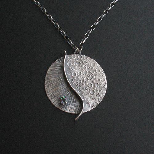 art clay silver, mystic fire topaz