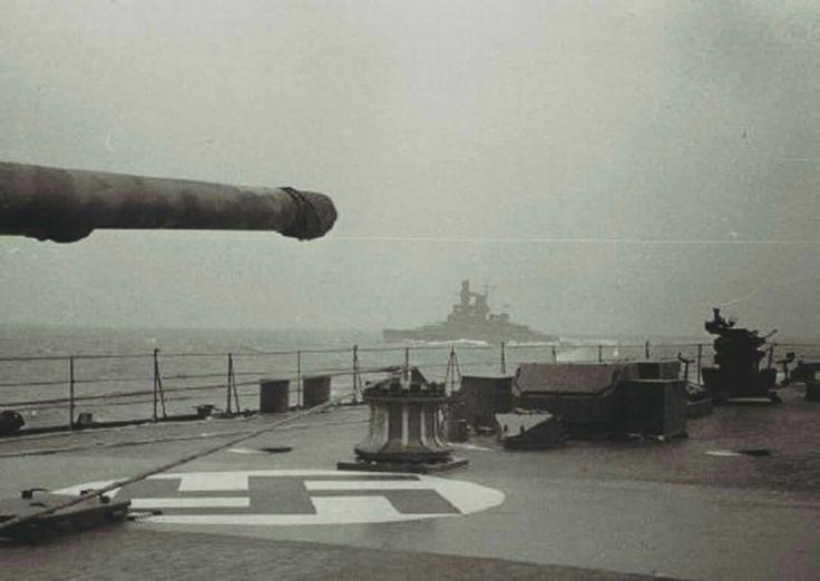 Kriegsmarine Pocket battleship KMS Panzerschiff Admiral Scheer from Prinz Eugen