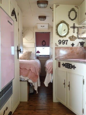 Best Glampers Images On Pinterest Camp Trailers Travel And - Old shabby trailer gets one hell makeover