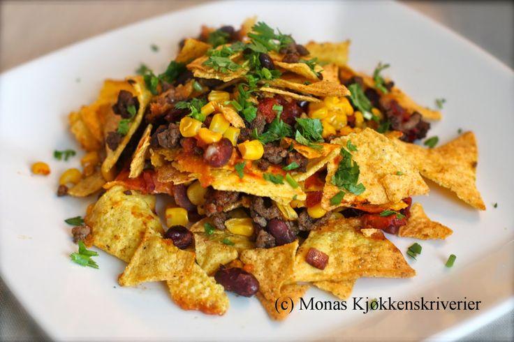 Mona's Kjøkkenskriverier: Hjemmelaget nachos