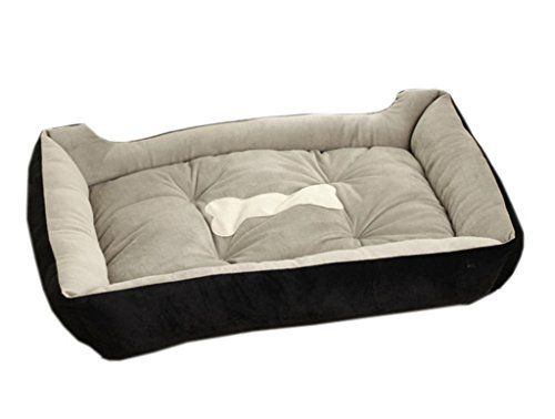 EOZY Pet Dog Cat Contrast Color Pet Bed Cuddler Teddy Golden Retriever Large B BLACK *** See this great product.