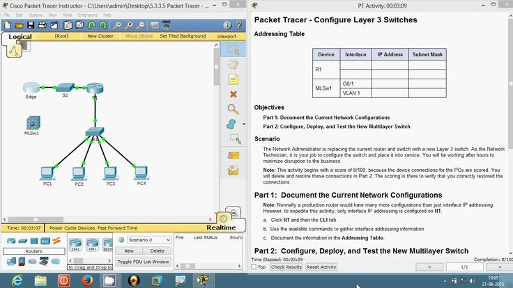 5.3.3.5 Packet Tracer
