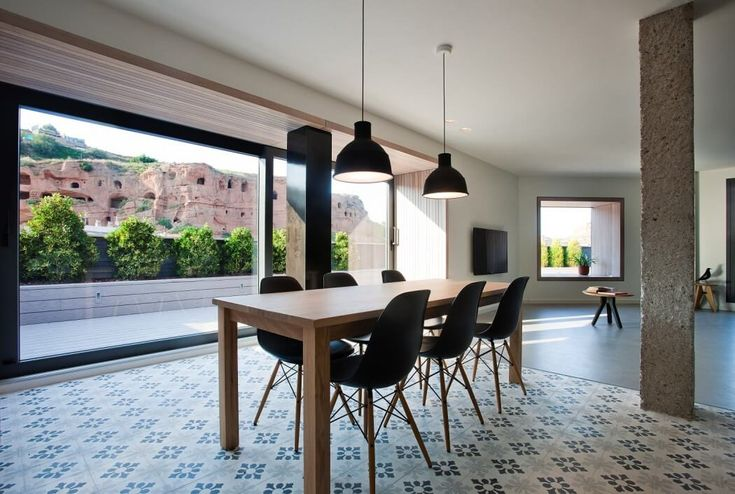 La Rioja Apartment by n232 arquitectura | HomeAdore (LOVE the view, and the tile! I wish...)