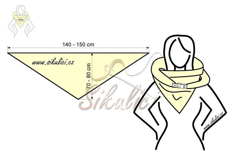 Nákrčník, šálo šátek, šála, šátek - Šikulíc