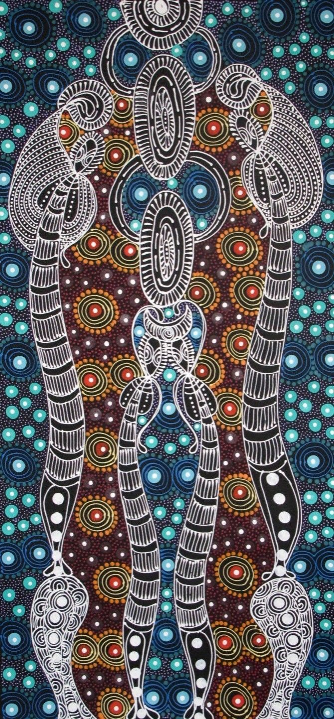 Aboriginal Art, Aboriginal Art for Sale, Dreamtime Art, Indigenous Art | Painting - Dreamtime Sisters - CW14092110 (COLLEEN WALLACE NUNGARI)