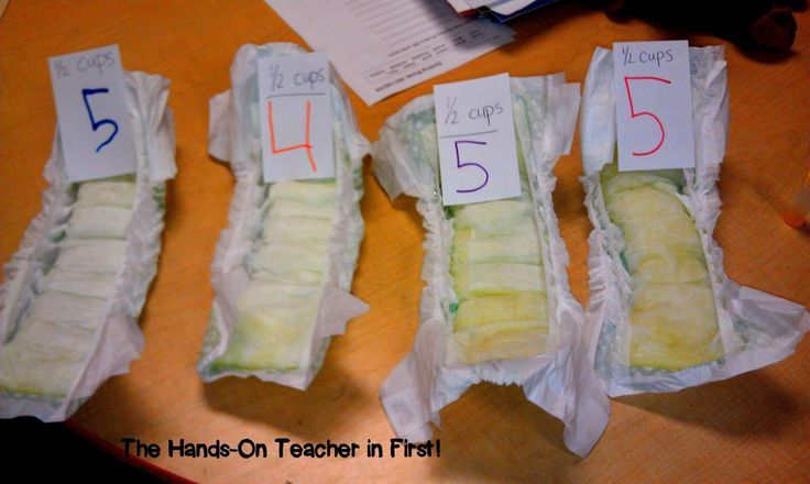 Diaper Science!! One of the most fun science lessons I do!