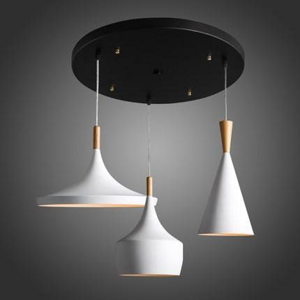Scandinavian TYDXSD Simple white three-headed creative personality instrument meal restaurant light Scandinavian modern living room Bar pendant , white *** Be sure to check out this awesome product.