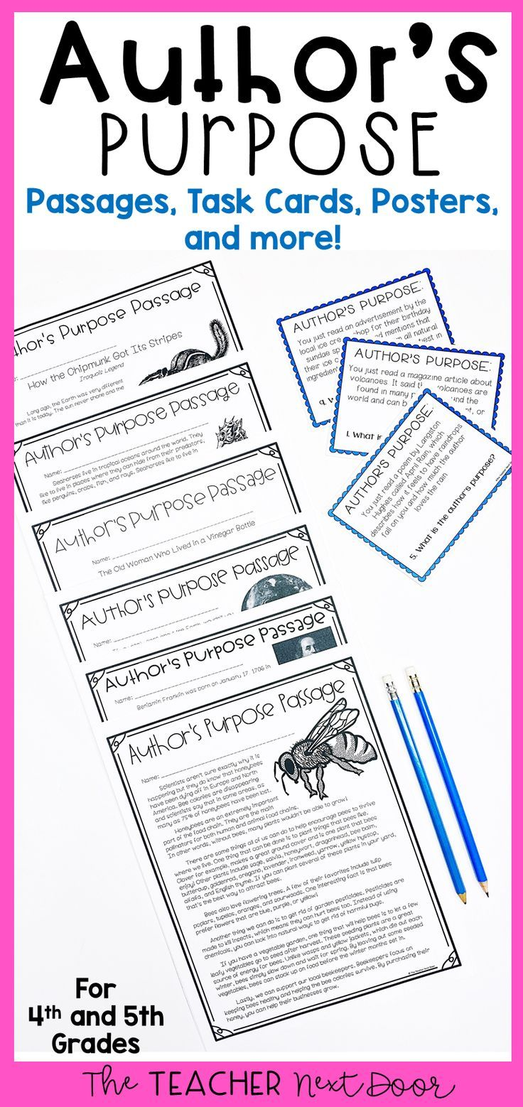 Author S Purpose 4th And 5th Grade Author S Purpose Activities Authors Purpose Authors Purpose Activities Upper Elementary Reading