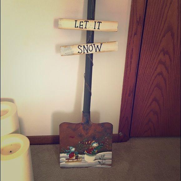 Decorative shovel Decorative Let it Snow Shovel! Great if you love snowmen! Other