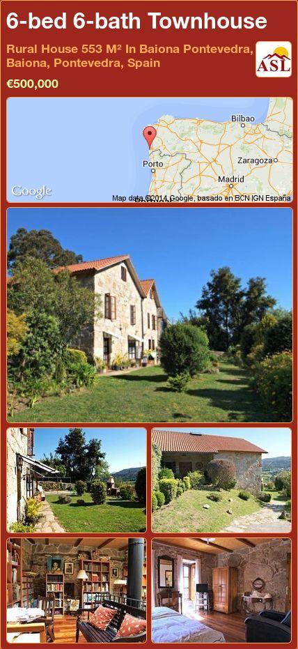 6-bed 6-bath Townhouse in Rural House   553 M² In Baiona Pontevedra, Baiona, Pontevedra, Spain ►€500,000 #PropertyForSaleInSpain