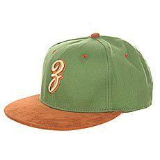 Бейсболка с прямым козырьком Запорожец Просто З Green