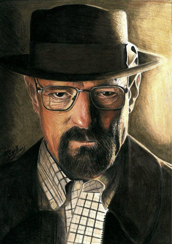 Walter White Heisenberg Breaking bad original drawing by ...