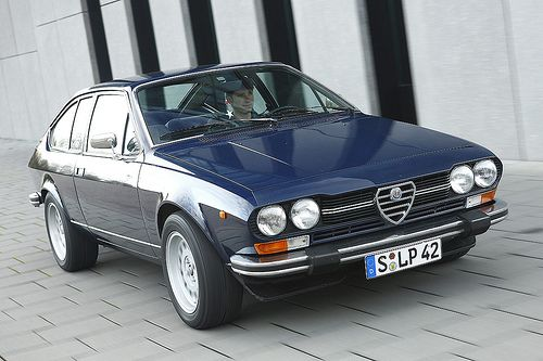 Alfa Romeo Alfetta GTV.. Not a bad car to start out at 17 with..