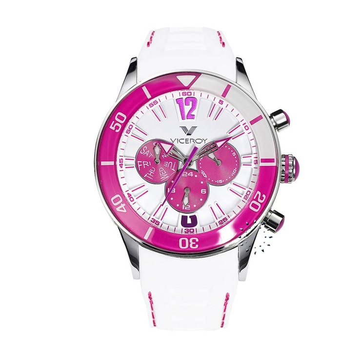 VICEROY Multifunction White Rubber Strap  138€  http://www.oroloi.gr/product_info.php?products_id=26814
