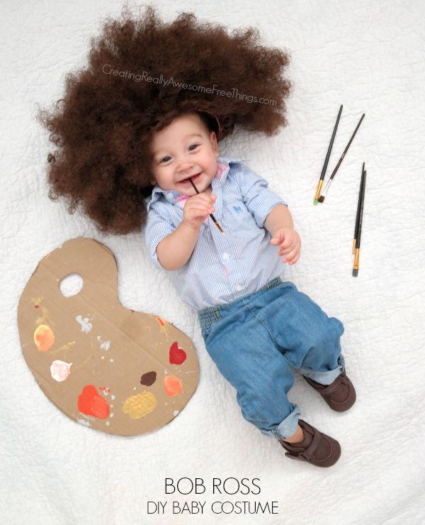 DIY baby Bob Ross costume... so stinkin' cute!