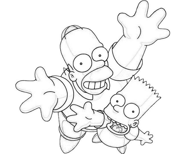 the simpsons coloring pages games