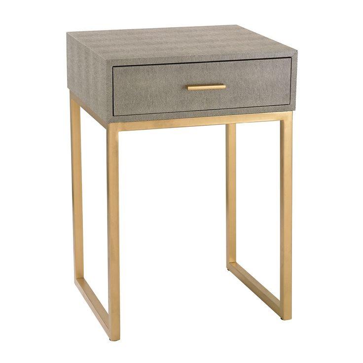 Sterling Shagreen Grey Side Table