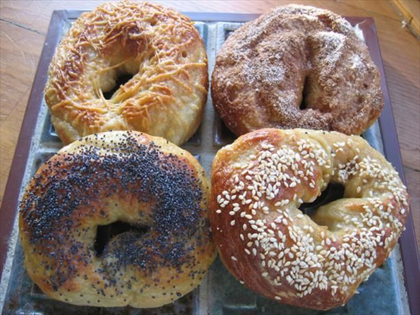 Basic Bagel (For the Bread Machine) from Food.com:   Is there anything as simple or as versatile as a bagel? This recipe turns dough into sweet, moist chewy bagels that will last for days!