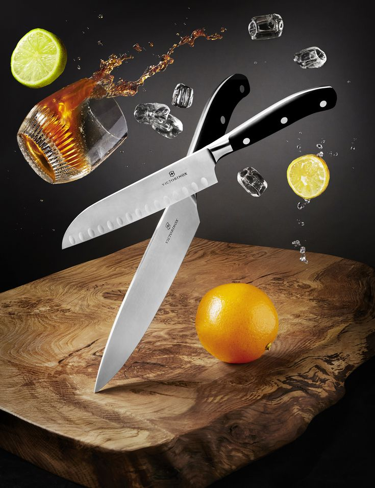 Victorinox knives shot by London based still life photographer Josh Caudwell