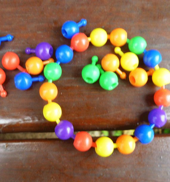 120 Retro Pop Beads 10 MM by UrbanHomesteaders on Etsy