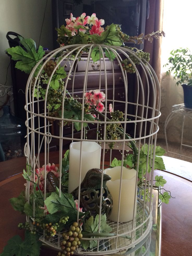 Birdcage centerpiece home decor ideas pinterest for Home decor centerpieces