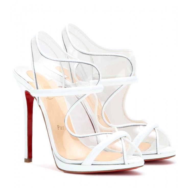 louboutin 'aqua ronda 120' transparent sling-backs - what are we thinking about these, guys? #shoeporn