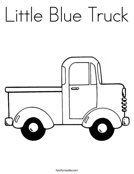 Little Blue Truck Coloring Page - Twisty Noodle
