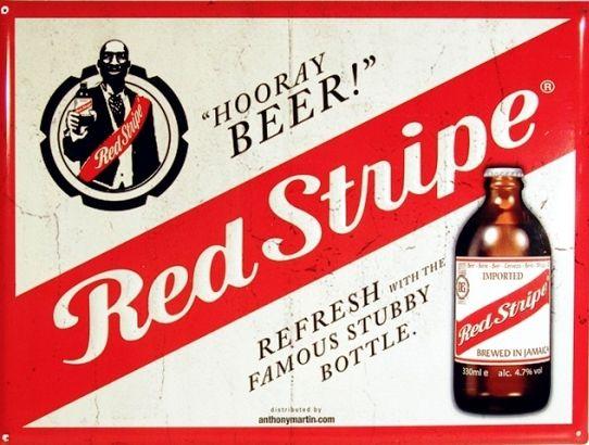 Man Drinks Red Stripe