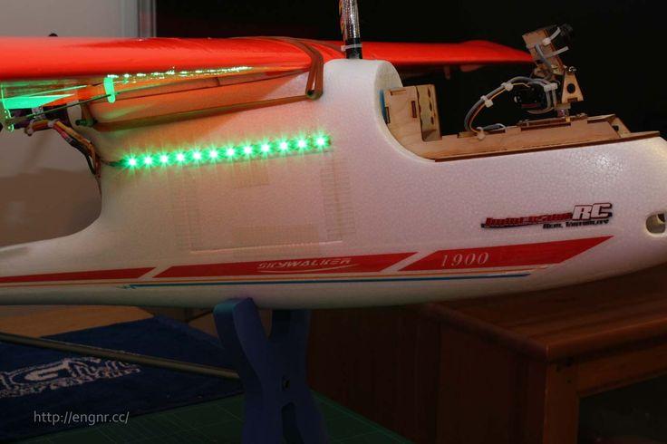 Side view photo of Skywalker 1900 with navigation LED lighting.