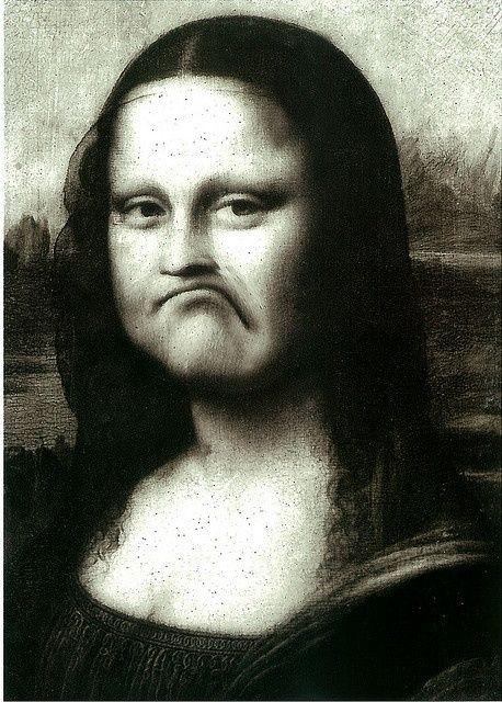 Приколы картинки мона лиза, друзьям