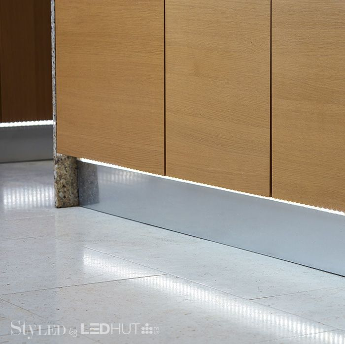 Our LED strip lighting comes on adhesive rolls that can be cut down to size – try using it as under-cabinet feature lighting #StyLEDlighting