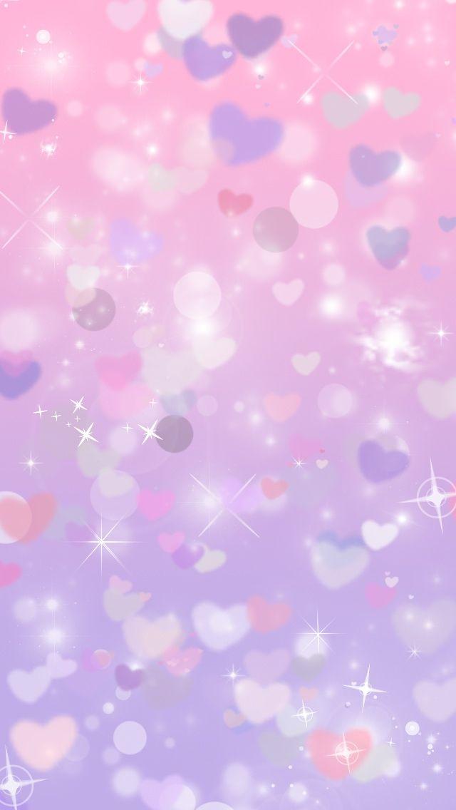 Glitter purple hearts cocoppa iphone wallpaper