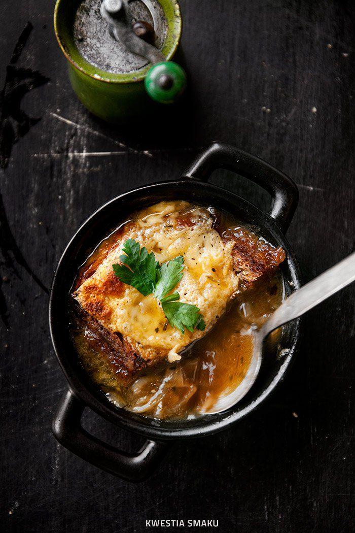 Zupa cebulowa z pieczonej cebuli