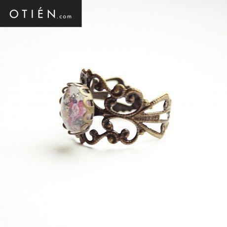 Sans relâche - deux (Bez wytchnienia - dwa) - pierścionek z antycznym wykończeniem