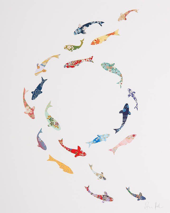 Koi Fish Circle : circle, Circle, Collage, Collage,, Carp,