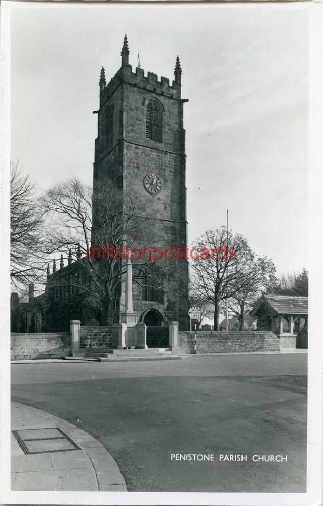REAL PHOTOGRAPHIC POSTCARD OF PENISTONE PARISH CHURCH, WEST YORKSHIRE
