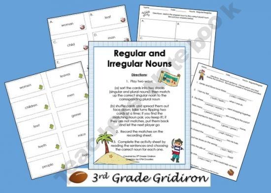 FREE Regular-Irregular Nouns (Sing/Plural Activities)