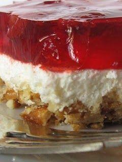 Strawberry Pretzel Jello - my absolute favorite dessert of all time