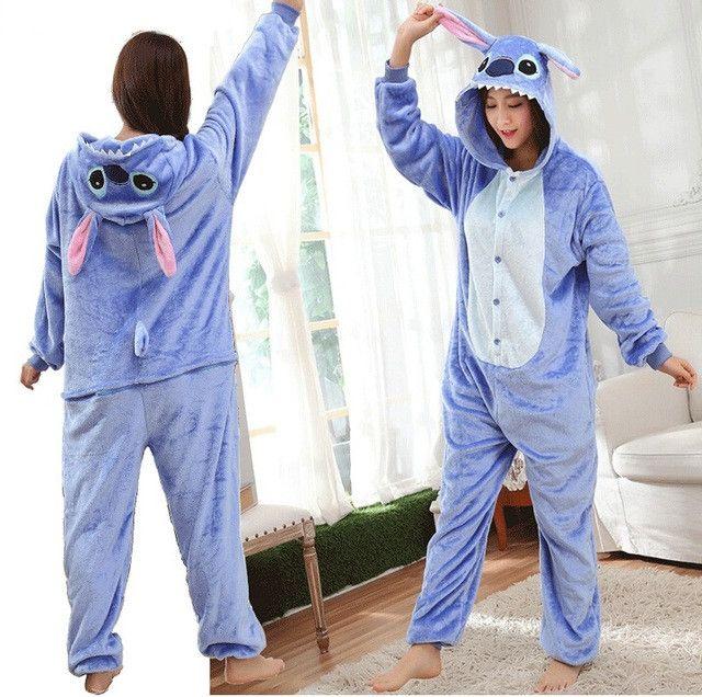 Adult Pajamas Anime Cosplay Costume Onesie panda unicorn dinosaur stich bat pajamas women nightwear Onesies women pijamas mujer