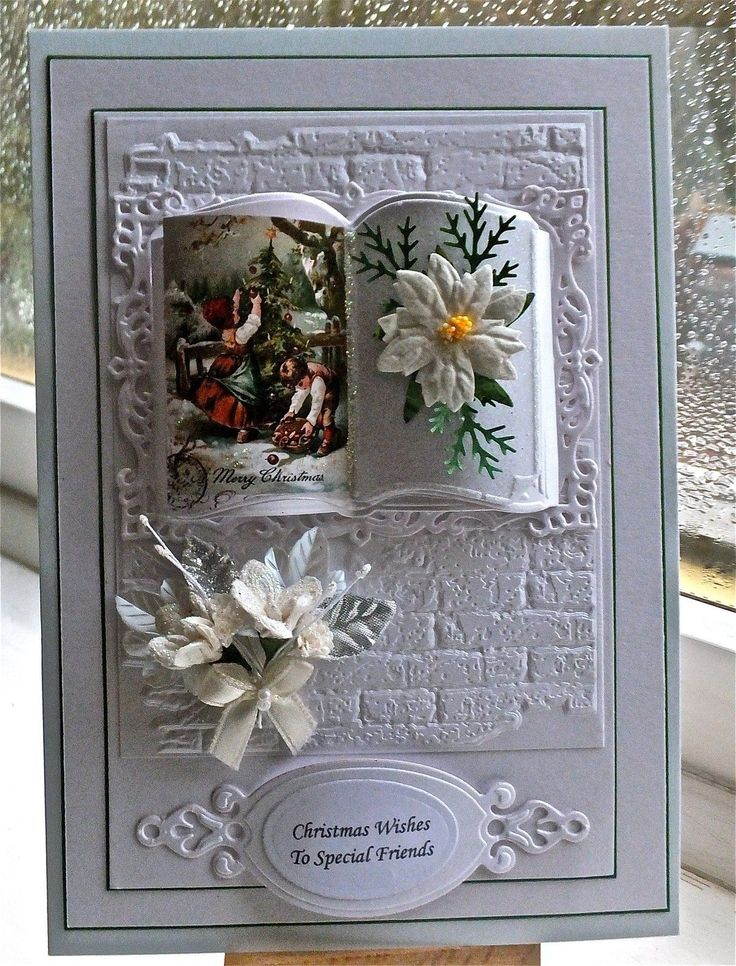 Новогодняя открытка книга своими руками, летием свадьбы