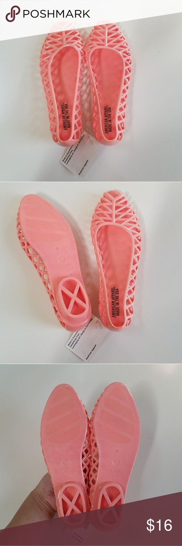 American Apparel Woman Jelly Flats (Coral) American Apparel Woman Jelly Flats (Coral)  -Size: 6US (will fit best if you fit a 5.5US) American Apparel Shoes Flats & Loafers