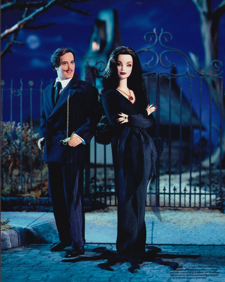 Barbie and Ken in 'The Addams Family'