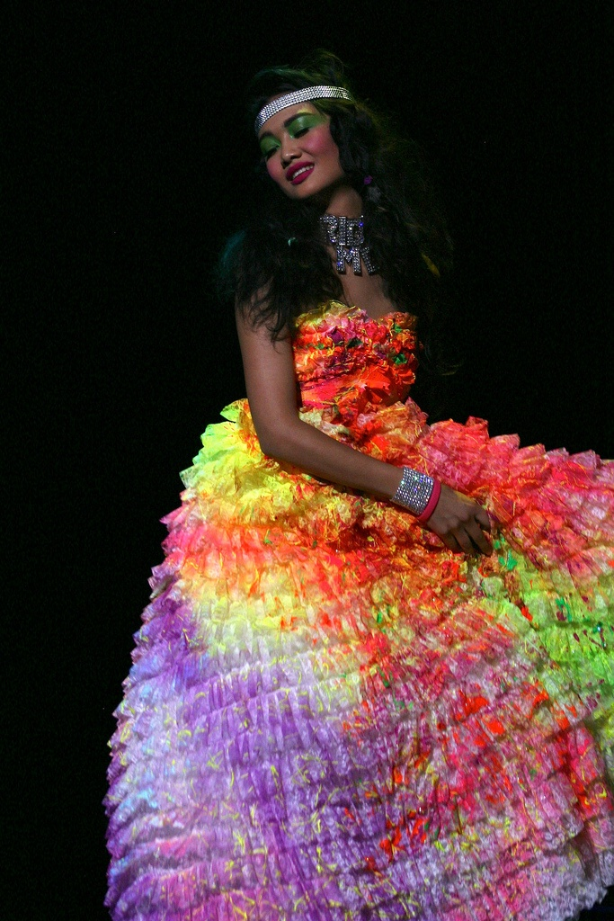 Betsey Johnson Neon Prom Dress @Jessica Bazan how sweet is this?!