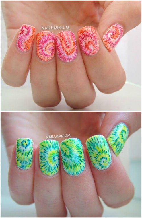 25 beautiful tie dye nails ideas on pinterest cool nail designs top 101 most creative spring nail art tutorials and designs page 6 of 7 prinsesfo Choice Image