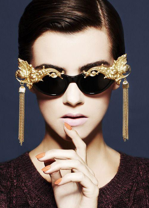 Fancy glamour sunglasses
