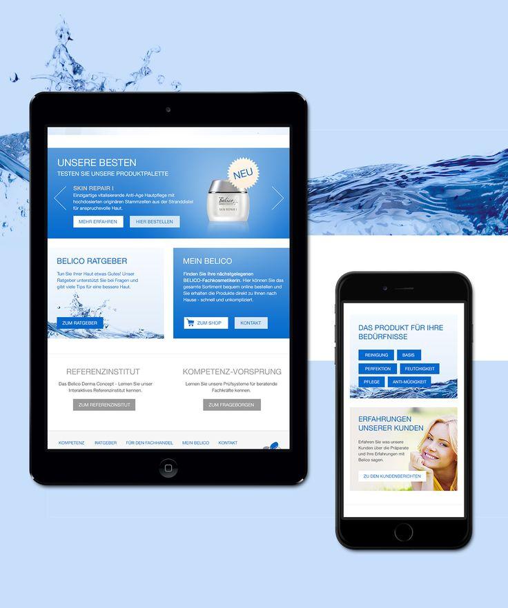 Belico Derma Concept orientiert sich an Naturpflegeprodukte und verzichtet gänzlich auf umstrittene Inhaltsstoffe. Für Belico Derma Concept wurde ein frisches Startseiten-Layout entworfen.