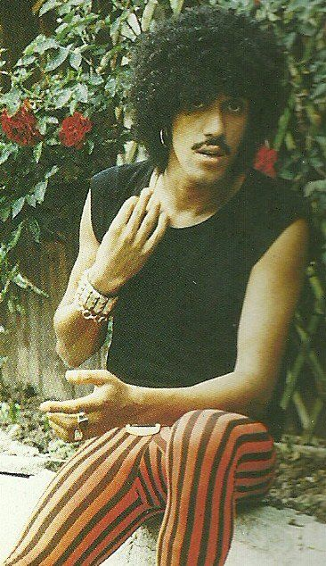 """Lead singer of """"Thin Lizzy"""". Phil Lynott's last years were dogged by drug and alcohol dependency leading to his collapse on Christmas Day 1985, at his home in Kew. After admission to a drug clinic at Clouds House in East Knoyle, near Warminster, he was taken to Salisbury Infirmary where he was diagnosed as suffering from septicaemia. He died of pneumonia and heart failure due to septicaemia in the hospital's intensive care unit on 4 January 1986, at the age of 36."""