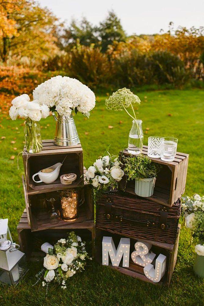 36 rustikale Holzkisten Hochzeitsideen   Hochzeits-Vorwärts   – farmhouse chic